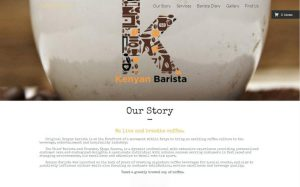 Kenyan barista Website Design